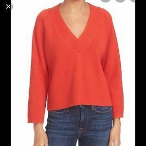 Frame Tomato Merino Cotton Blend Sweater